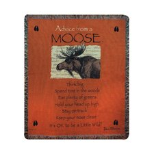 <strong>Manual Woodworkers & Weavers</strong> Advice From a Moose Tapestry Cotton Throw