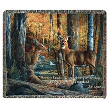 Broken Silence II Verse Tapestry Cotton Throw