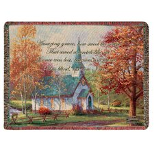 Chapel in the Woods Tapestry Cotton Throw