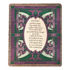 <strong>Manual Woodworkers & Weavers</strong> Gods Promise Tapestry Cotton Throw
