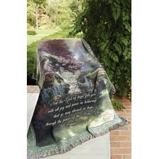 The Garden of Hope Verse Tapestry Cotton Throw