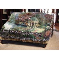 The Garden of Prayer Verse Tapestry Cotton Throw