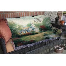 Hometown Chapel Verse Tapestry Cotton Throw