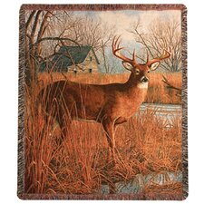 His Side of the River Tapestry Cotton Throw