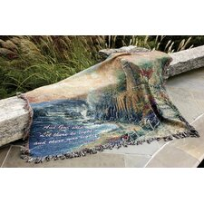 <strong>Manual Woodworkers & Weavers</strong> The Light of Peace Verse Tapestry Cotton Throw