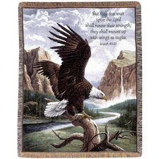 <strong>Manual Woodworkers & Weavers</strong> Freedom Picken Verse Tapestry Cotton Throw