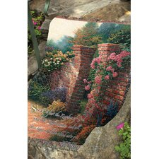 Rose Garden Tapestry Cotton Throw