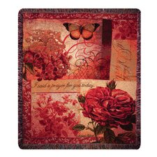 <strong>Manual Woodworkers & Weavers</strong> Spring Blooms Verse Tapestry Cotton Throw