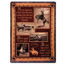 Saddlebag Quotes Tapestry Cotton Throw