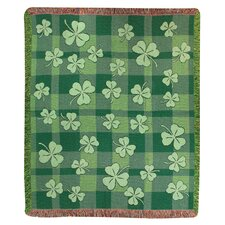 Shamrock Tapestry Cotton Throw