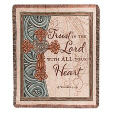 <strong>Manual Woodworkers & Weavers</strong> Trust in the Lord Tapestry Cotton Throw