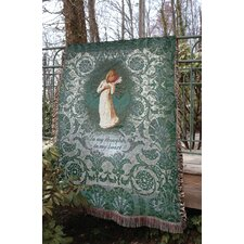 <strong>Manual Woodworkers & Weavers</strong> Willow Tree Thinking of You Tapestry Cotton Throw