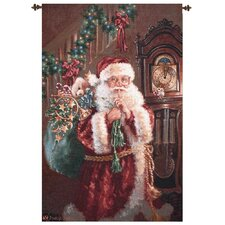 Santa Not a Creature Tapestry