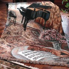 <strong>Manual Woodworkers & Weavers</strong> Music Room Tapestry Cotton Throw
