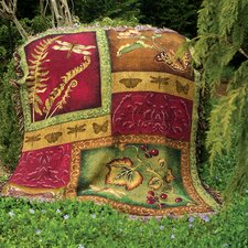 Flora and Fauna Tapestry Cotton Throw