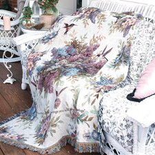 <strong>Manual Woodworkers & Weavers</strong> Whisper Wings Verse Tapestry Cotton Throw