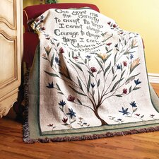<strong>Manual Woodworkers & Weavers</strong> Serenity Prayer Tapestry Cotton Throw
