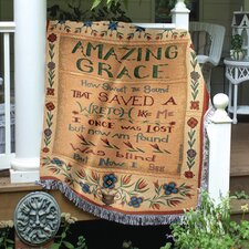 <strong>Manual Woodworkers & Weavers</strong> Amazing Grace Tapestry Cotton Throw
