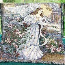 <strong>Manual Woodworkers & Weavers</strong> Angel of Love Tapestry Cotton Throw