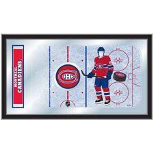 NHL Hockey Rink Mirror Framed Graphic Art