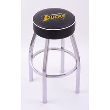 National Hocky League Single Ring Swivel Barstool with Chrome Base