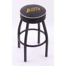 National Hocky League Single Ring Swivel Barstool with Black Base