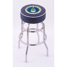 US Military Double Ring Swivel Bar Barstool