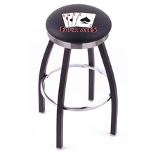 Gambling Single Chrome Ring Swivel Barstool