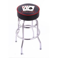 "Gambling 25"" Swivel Bar Stool with Cushion"