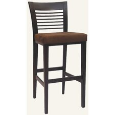 Designer Austin Solid Hardwood Stationary Bar Stool