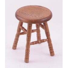 "Domestic Hardwood 18"" Saddle Dish Swivel Stool"