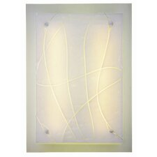<strong>Light In Art by Shimal'e Peleg</strong> Snow 2 Light Wall Sconce/Flush Mount