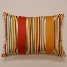 Deck Chair Ball Fringe Shell Cotton Pillow (Set of 2)