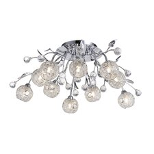 Portia 10 Light Semi Flush Light