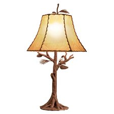 """Ponderosa 35"""" H Table Lamp with Bell Shade"""