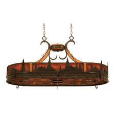 Aspen Hanging Pot Rack with 6 Light