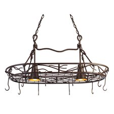 <strong>Kalco</strong> Vine 2 Light Hanging Pot Rack