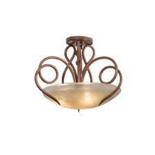 <strong>Kalco</strong> Tribecca 3 Light Semi Flush Mount