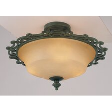 Hamilton 2 Light Semi Flush Mount
