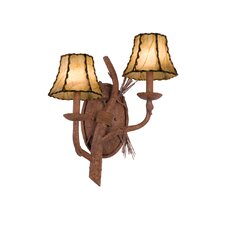 <strong>Kalco</strong> Ponderosa 2 Light Wall Sconce
