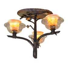 Cottonwood 3 Light Semi Flush Mount