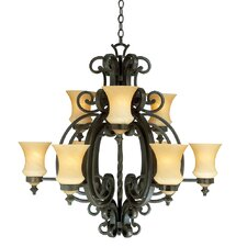 Hamilton 9 Light Chandelier