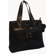 Microfiber Laptop Zip Brief Tote Bag
