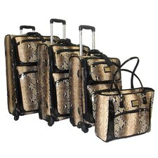 <strong>Adrienne Vittadini</strong> Madison Avenue 4 Piece Luggage Set