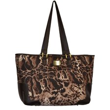 Animal Print Oversized Laptop Tote Bag