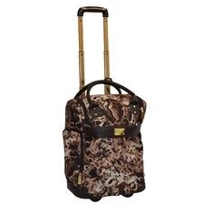Animal Print 18'' 2-Wheeled Rolling Weekender
