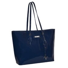 Patent Aubrey Shopper Tote Bag