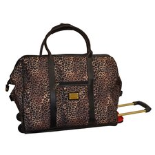 Animal Print 22'' 2 Wheeled Rolling Duffel