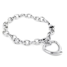 Chain Heart Dangle Bracelet