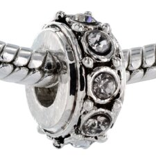 Sparkling Stone Bead Charm